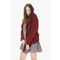 Teddy Trend Coat - Bordeaux