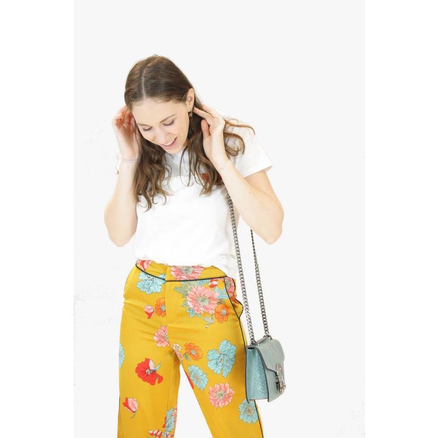 Lola Floral Pants - Ocher