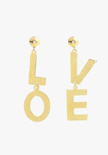 Love Earrings Gold