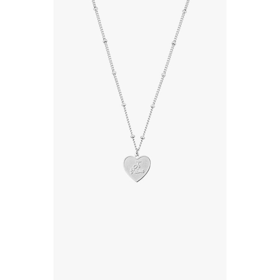 Je T'aime Necklace Silver
