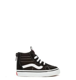 VANS SK8 HI ZIP KIDS BLACK/WHITE