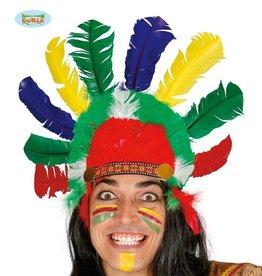FIESTAS GUIRCA Indianen pluimen simpel