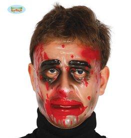 FIESTAS GUIRCA transparant masker met bloed man