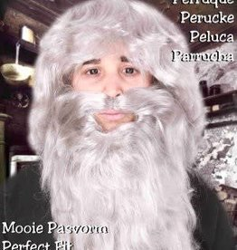Partyxplosion baard en pruik abraham