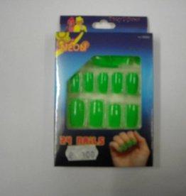 ESPA nagels fluo groen