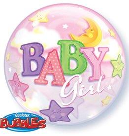 Folat baby girl bubbles met helium