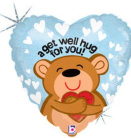 Sempertex avalloons folie gaat je goed, beer met hart met helium
