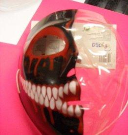 EUROCARNAVALES masker transparant half zwart