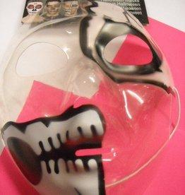 EUROCARNAVALES masker transparant met wit