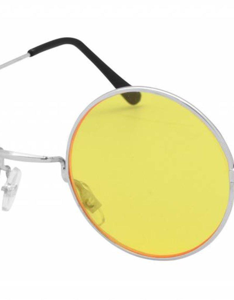 Bristol Novelty Ltd. hippie bril geel