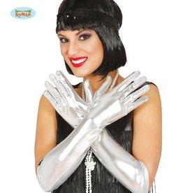 FIESTAS GUIRCA handschoenen zilver 44 cm.