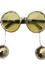 bril met disco bollen