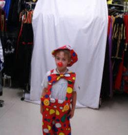 clownsbroek met pet en strik huurprijs € 10