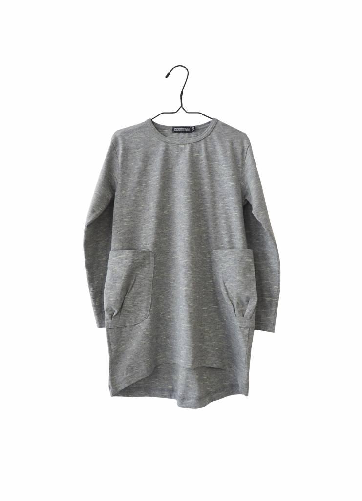 AARREKID - Longsleeve Kleid mit Taschen grau-grün Mèlange