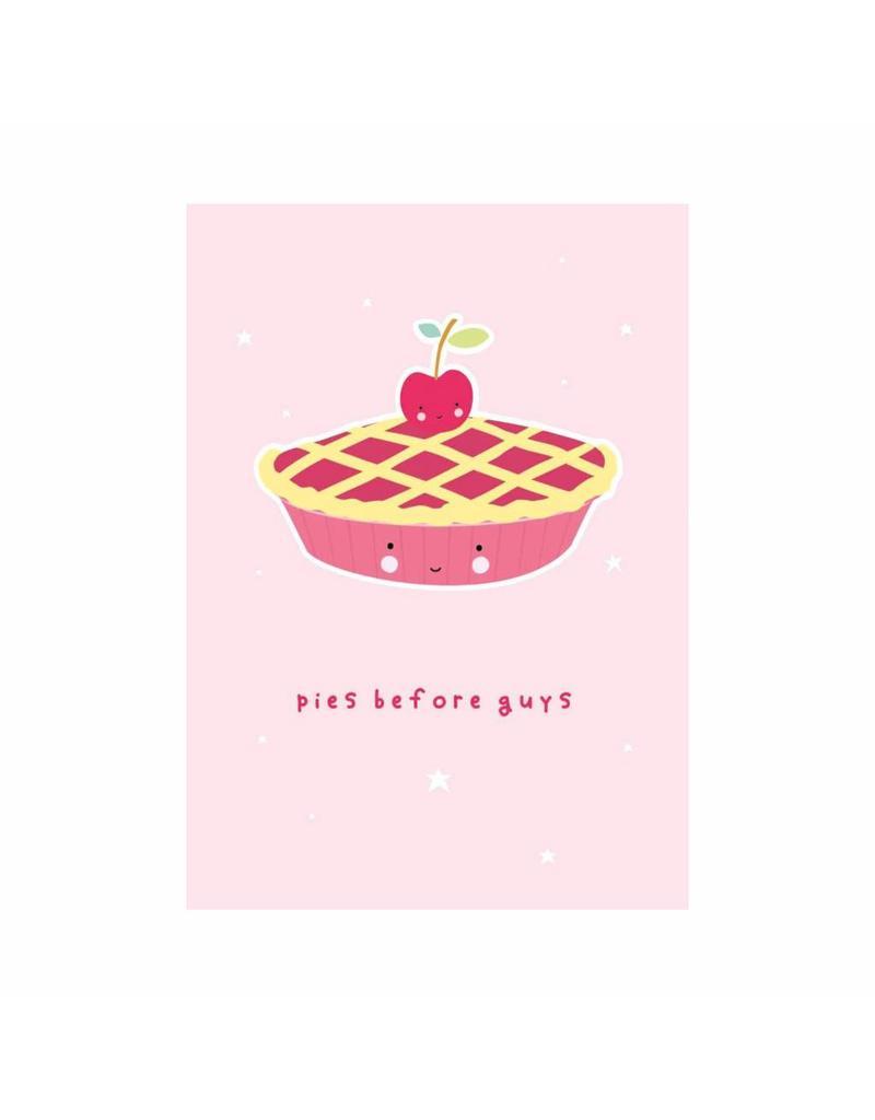 Postkaart Pies before guys