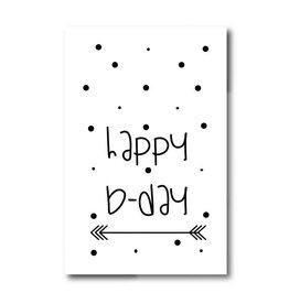 Mini kaartje Happy bDay