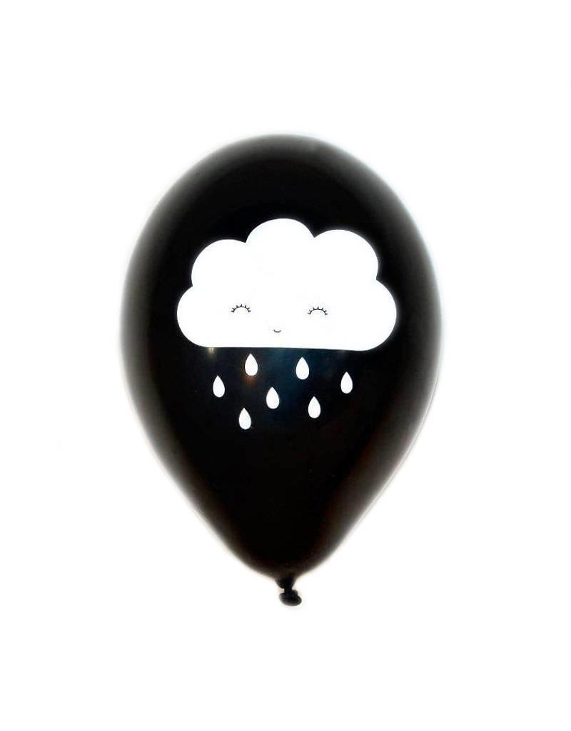 Ballonnen (6) wolk zwart