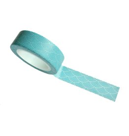 washi tape blauw waves