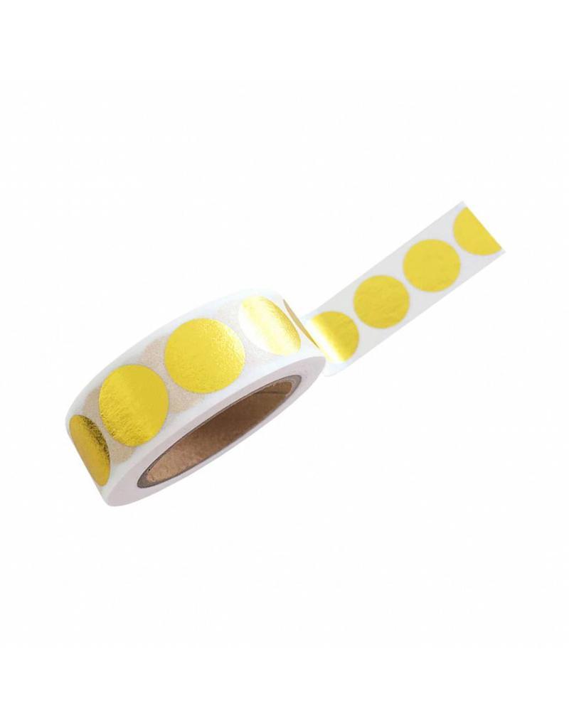 washi tape goud dots groot