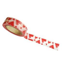 washi tape rode hartjes