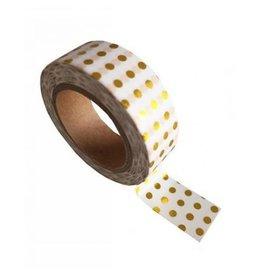 washi tape wit / goud dots
