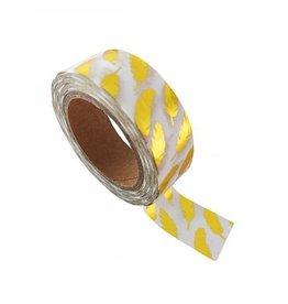 washi tape wit / goud veer