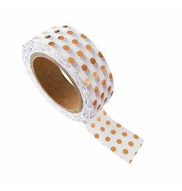 washi tape wit / koper dots