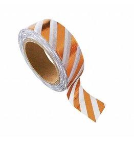 washi tape wit / koper strepen