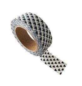 washi tape wit / zwart triangle