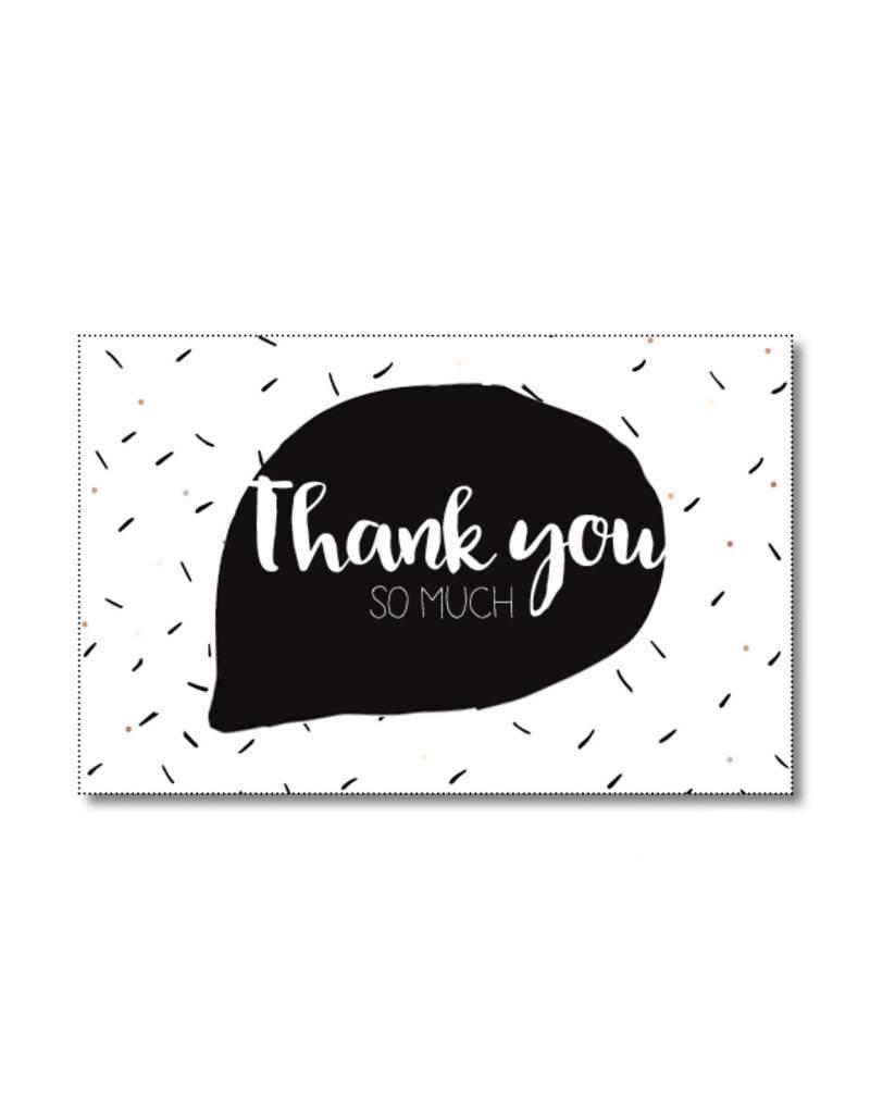 Mini kaartje Thank you so much