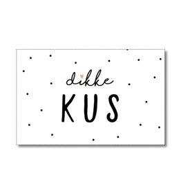 Mini kaartje Dikke kus