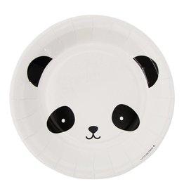 Papieren bordjes panda