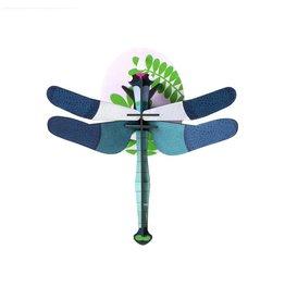 Libelle blauw 3D