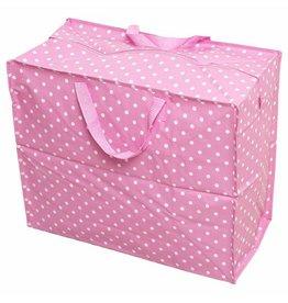 XL zak polkadot pink