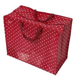 XL zak polkadot rood