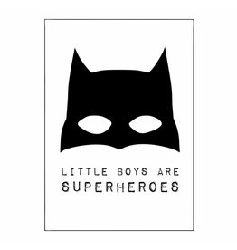 Poster A3 Boys are superhoes batman