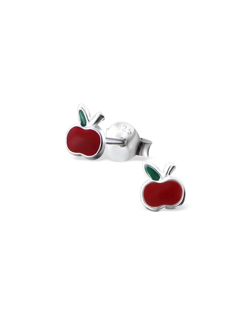 Stekertjes zilver appel mini