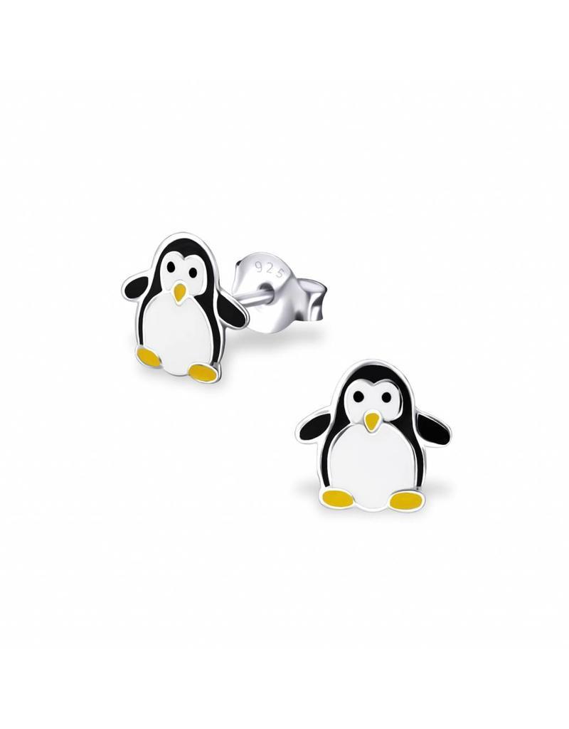Stekertjes zilver pinguïn klein