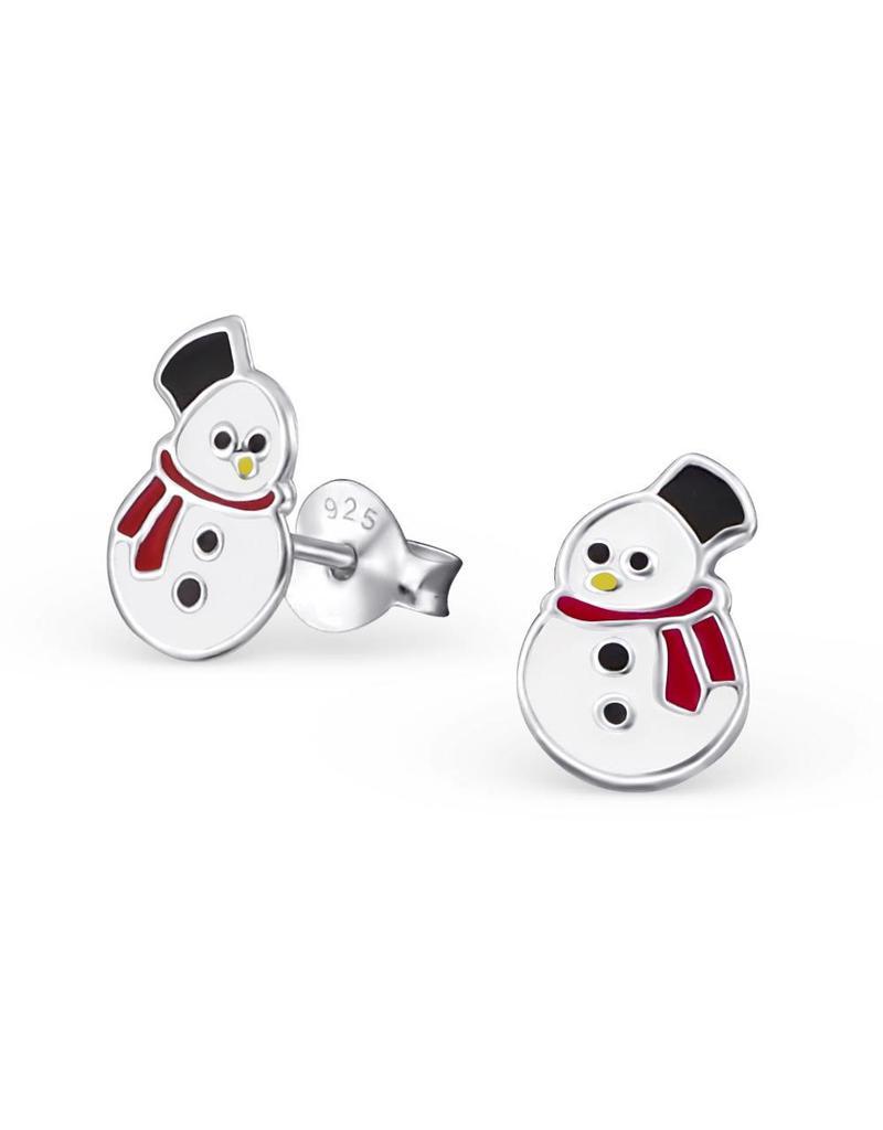 Stekertjes zilver sneeuwman