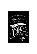 postkaart Best dad ever