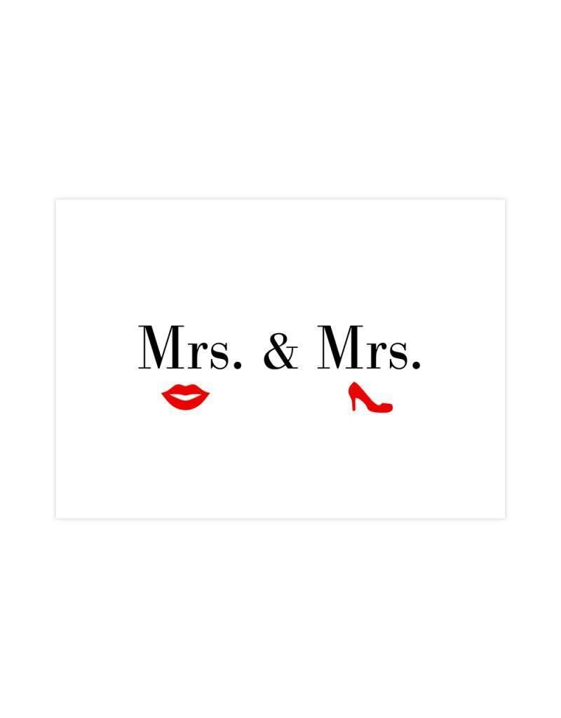 Postkaart Mrs. & Mrs.