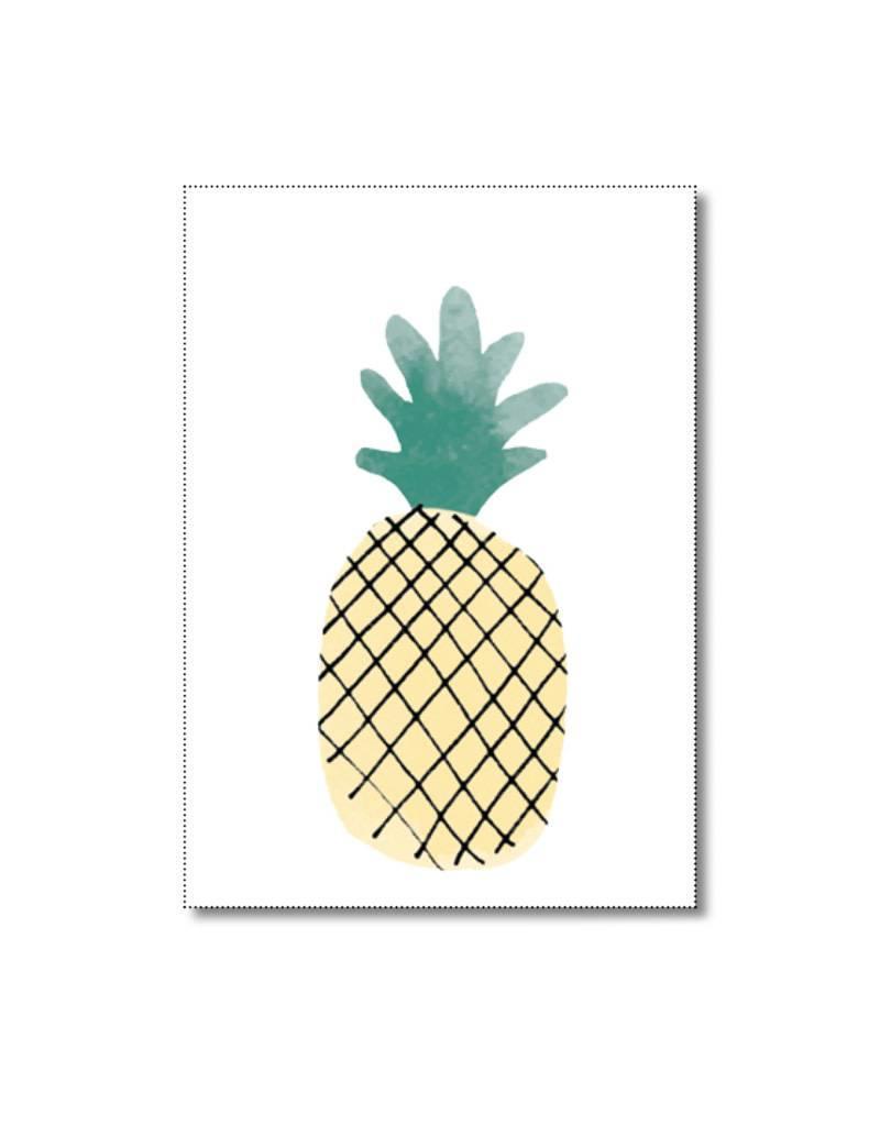 Mini kaartje ananas