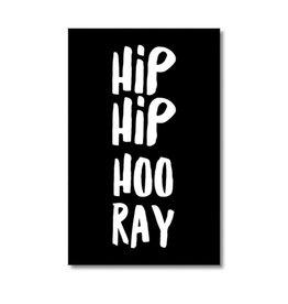 Mini kaartje HIP HIP HOORAY