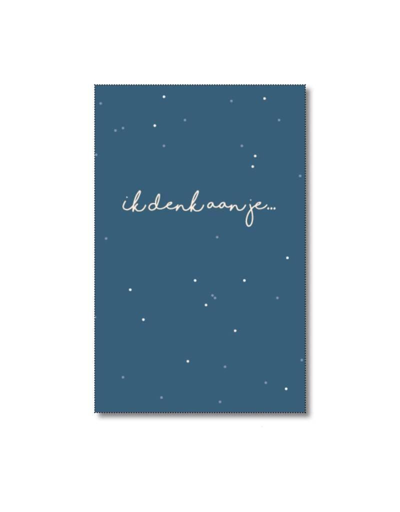 Mini kaartje Ik denk aan jou