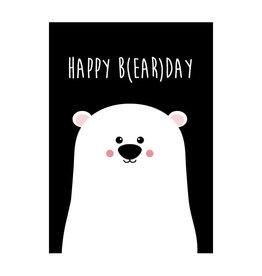 Postkaart Happy b(ear)day