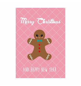 postkaart Kerst Peperkoekenmannetje