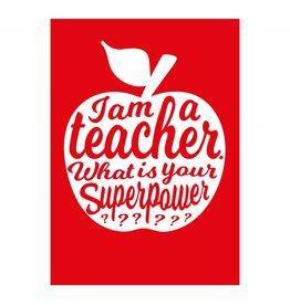 postkaart Teacher rood
