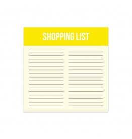 Little note shopping list