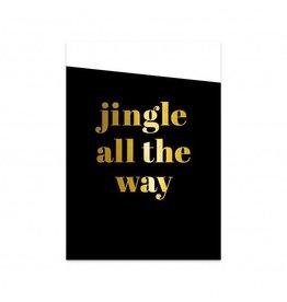 postkaart Kerst Jingle all the way