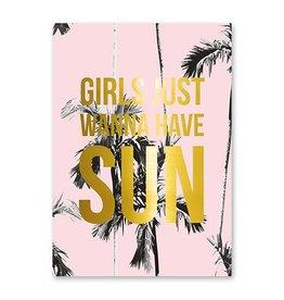 postkaart Girls just wanna have SUN